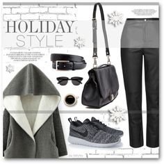 Holiday Style: Leather Pants by befunky on Polyvore featuring Topshop, NIKE, Proenza Schouler, Yves Saint Laurent, polyvorecommunity, holidaystyle and PolyvoreMostStylish