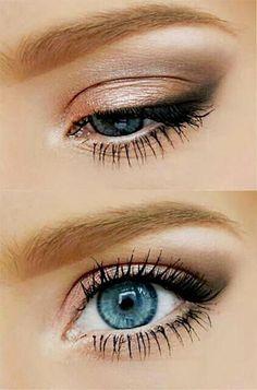 Smoky eyes bronze orangé