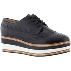 f6c78fd30ca Steve Madden Greco Women s Black Oxford ( 100) ❤ liked on Polyvore  featuring shoes