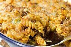 pizza casserole....mmmmm!!! Think of it as your favorite pizza tossed with pasta and baked with cheese!!