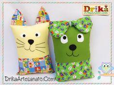 Artesanato em tecido: Travesseiros divertidos. Achei fofo, passo a passo nesse link. http://drikaartesanato.com/2013/12/artesanato-em-tecido-travesseiros-divertidos.html