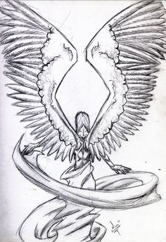 Angel Wings Orig Sketch by MagikLamp