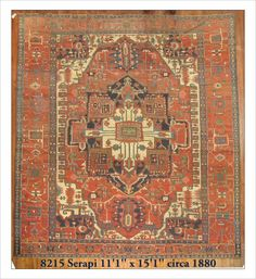 Oversize, Room 11.1 x 15.1 Serapi/Heriz (#8215) at JDOrientalRugs.com