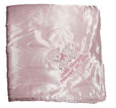 Huge Satin Baby Blanket - Embroidered and Personalized to Your Specifications Crib Blanket, Blue Blanket, Custom Embroidery, Embroidery Designs, Embroidered Baby Blankets, Satin Bedding, Butterfly Design, Handmade Baby, Red And Blue