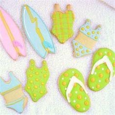 Galletas de verano  decoradas con glaseado - Decorated cookies