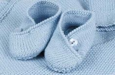 Knitting pattern baby shoes