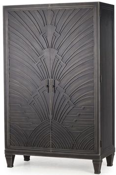 Resource Decor Josephine Modern Classic Black Wood 2 Door China Cabinet - Transitional - Armoires And Wardrobes - by Kathy Kuo Home Furniture Decor, Living Room Furniture, Modern Furniture, Furniture Design, Office Furniture, Vintage Furniture, Trendy Home Decor, Art Deco Home, Rustic Wall Decor