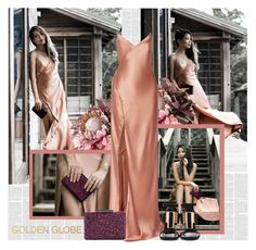 """60 Second Style: Golden Globes"" by bklana ❤ liked on Polyvore featuring Guide London, Mason by Michelle Mason, Sole Society, Yves Saint Laurent, RedCarpet, GoldenGlobes, maxidresses and bklana"