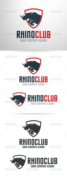 Rhino Logo Template — Photoshop PSD #rhino #logo • Available here → https://graphicriver.net/item/rhino-logo-template/7146654?ref=pxcr