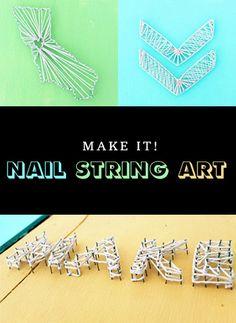 DIY basics - nail string art