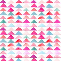 All — Yao Cheng Design // pattern // geometric // triangles // red // pink // teal