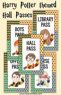 Classroom Posters, Classroom Decor, Free Teaching Resources, Teaching Ideas, School Forms, Hall Pass, Card Sizes, Hogwarts, Harry Potter