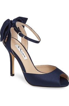 83e6926e60 Women's Nina Martina Ankle Strap Pump (365 ILS) ❤ liked on Polyvore  featuring shoes · Satin PumpsPeep Toe ...
