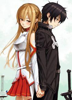 Sword Art Online: Asuna+Kirito by ホム