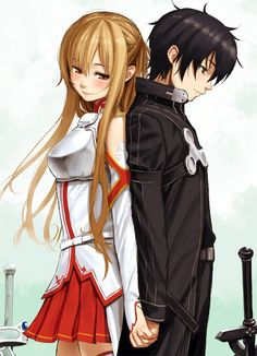 Kirito and Asuna I can only dream of a love like Asuna and Kirito. It's just so perfect.