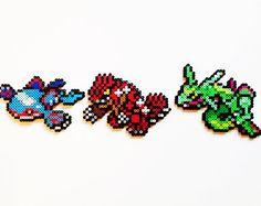 Pokemon Generation 4 Legendaries Perler  Dialga by ShowMeYourBits