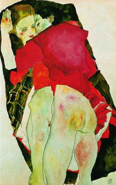 Sapphic Couple Egon Schiele