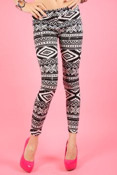 Aztec Leggings!!  The hottest trend right now!  Only $22!  Pair with our boyfriend tee! www.sevenandcoboutique.com