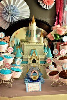 Love this decor at a Princess party!  See more party ideas at CatchMyParty.com!  #partyideas #princess