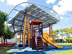 AU Optronics Helps Create a Frisbee-Shaped Solar Roof at Taipei Playground