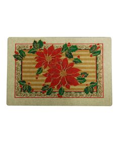 Mohawk Home Christmas Poinsettia Recycled Doormat $8.99
