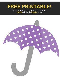 Pastel Plum Purple Polka Dot Umbrella Cut Out Plum Purple, Baby Shower Printables, Program Design, Polka Dots, Cricut, Pastel, Clip Art, Projects, Log Projects