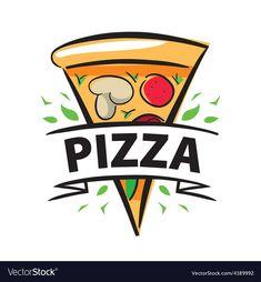 Pizza Logo, Pizza Restaurant, Logo Restaurant, Business Logo Design, Branding Design, Pizza Vector, Logo Tv, Ribbon Logo, Pizza Art