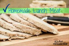 Homemade Lunch Meat {Easy, Simple and Allergy-Friendly}. Homemade lunch meat is the perfect school lunch solution. Use it on sandwiches, with crackers or eat it plain. Everyone from babies to adults will love it.