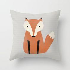 Foxiest Fox Throw Pillow by Allyson Johnson | Society6