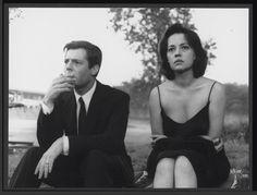 LA NOTTE, 1961 - Marcello Mastroianni et Jeanne Moreau, La Nuit (La Notte) de Michelangelo Antonioni, 1961. © Sergio Strizzi
