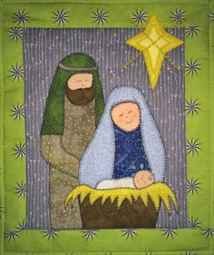 Nativity quilt   Sewing ideas patch work   Pinterest   Nativity ... : nativity quilt pattern - Adamdwight.com