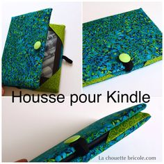 Housse pour Kindle, le tuto... - La chouette bricole Couture Sewing, Diy Couture, Sewing Tutorials, Crochet, How To Make, Crafts, Handmade, Travelling, Bun Hair