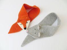 Crochet pattern, children's scarf with animal motif 'fox' and 'mouse' – Socken Stricken Knitting Patterns, Crochet Patterns, Crochet Motif, Knitting Ideas, David Wood, Blogger Themes, Baby Knitting, Children, Kids