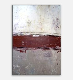 36x24 Large Modern Abstract Art. Abstract Painting With Nice Texture. Red Abstract Painting - Red Wall Art