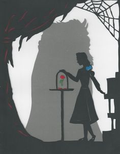 Beauty and the Beast paper silhouette