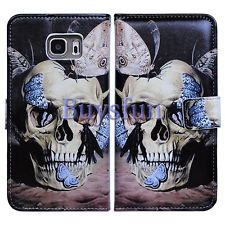 Bcov Skull Butterfly Leather Wallet Cover Case FOR Samsung Galaxy S6 Edge Plus | eBay