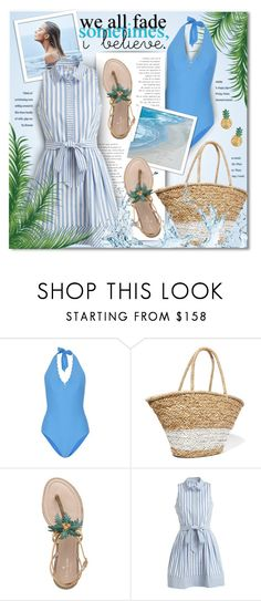 """Summer in Shirtdress"" by petri5 ❤ liked on Polyvore featuring Heidi Klein, La Ligne, Kate Spade, Milly and MBLife.com"