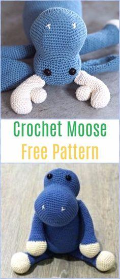 Crochet Moose Free Pattern - Amigurumi Crochet Christmas Softies Toys Free Patterns