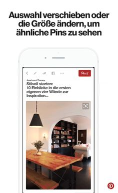 You can select items within pins to search for them, no typing required Apartment Therapy, Magnifying Glass, First Home, Pinterest Marketing, Things To Know, Good To Know, Helpful Hints, Life Hacks, Household