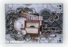 BLOGHOP Uitgelicht DDBD - MDF Envelop Art Male Birthday, Tim Holtz, Clocks, Fathers Day, Cardmaking, Envelope, Wheels, Scrapbooking, Children