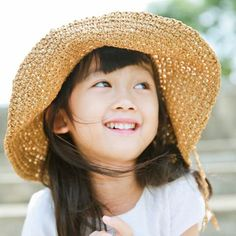 Crochet straw hat for kids UV protection sun hats