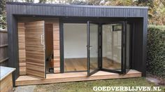 Now You Can Build ANY Shed In A Weekend Even If You've Zero Woodworking Experience! Start building amazing sheds the easier way with a collection of shed plans! Outdoor Office, Backyard Office, Backyard Studio, Outdoor Rooms, Backyard Kitchen, Shed Office, Garden Cabins, Cedar Cladding, Casas Containers