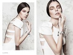 Institute Magazine Spring editorial features Rachel Sin Cage Back Dress.