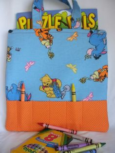Winnie the Pooh Crayon Tote by NotWithoutAnnette on Etsy