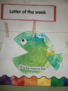 Ff is for Francy fish, zoo phonics craft