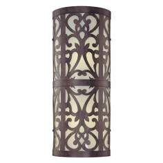 Nanti Collection Energy Efficient 18 High Wall Light - from Lamps Plus Outdoor Wall Light Fixtures, Outdoor Wall Sconce, Outdoor Wall Lighting, Wall Sconce Lighting, Lighting Ideas, Black Wall Sconce, Candle Wall Sconces, Wireless Wall Sconce, Farmhouse Wall Sconces