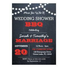 #invitations #wedding #bridalshower - #Chalkboard Lights Red Wedding Party Invitation