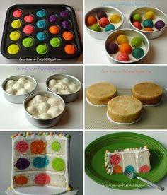 "30 ""Surprise-Inside"" Cake  Treat Ideas - 4. Polka Dot Cake"
