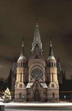 Sagene Church. Neo-gothic architecture.   http://cardinalguzman.wordpress.com/2012/12/14/sagene-kirke/