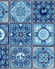 Italian Decorative Tiles Mexican Tile  Mixed Tnmed Tile Set N1  X1001  Talavera